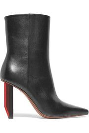 VetementsGlossed-leather ankle boots