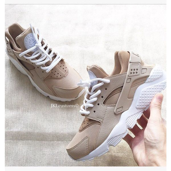 cheap for discount 4dce4 bf7cb Nude Khaki Nike Air Huarache Army Huarache Khaki Huarache Nike... ( 189) ❤  liked on Polyvore featuring shoes, silver, sneakers   athletic shoes, ...