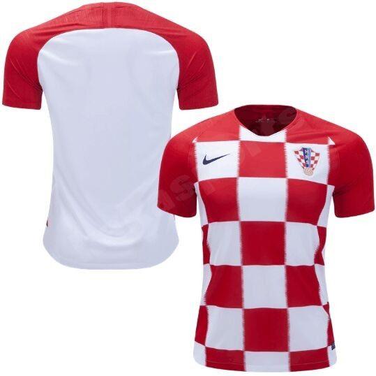 1f7839717a4 2018 World Cup Croatia Home Soccer Jersery Customize The Nike Croatia home  jersey 2018-19