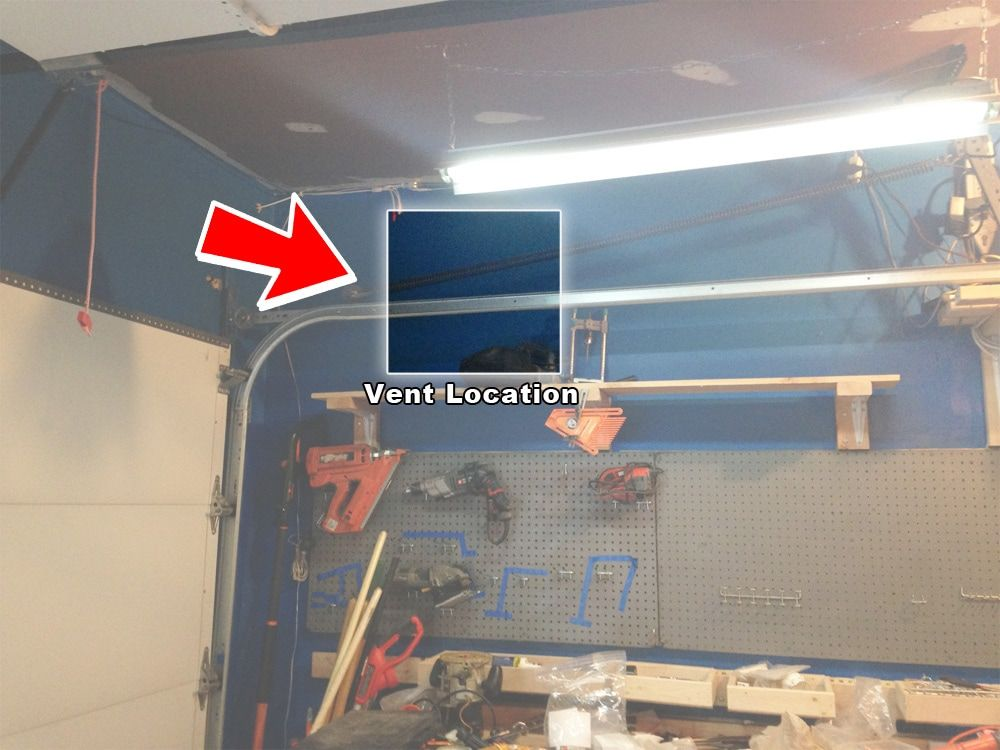 How To Install An Exhaust Fan Garage Ventilation Exhaust Fan Diy Garage Storage