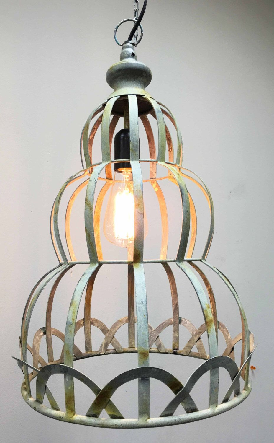 Vintage antique style rustic hanging light pendant light with