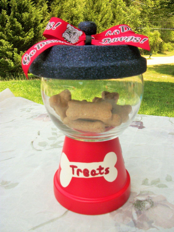 UGA Pet Treat Faux Gumball Jar by ElegantlyCentered on Etsy