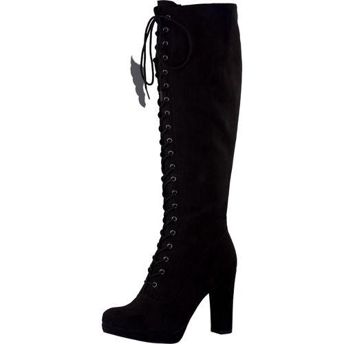 TAMARIS #Damen #Stiefel mit #Schnürung #schwarz Overknee