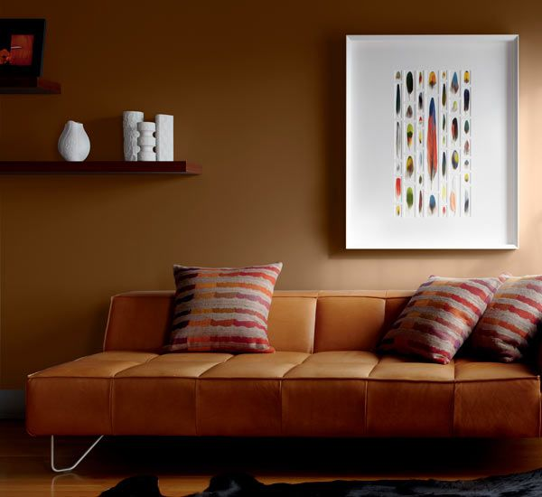 Color Of The Month October 2014 Cognac Room Wall