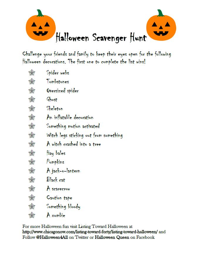 A Halloween Scavenger Hunt List For You Halloween Scavenger Hunt Photo Scavenger Hunt Scavenger Hunt List