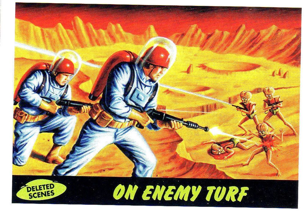 2012 topps heritage mars attacks deleted scenes 8 on