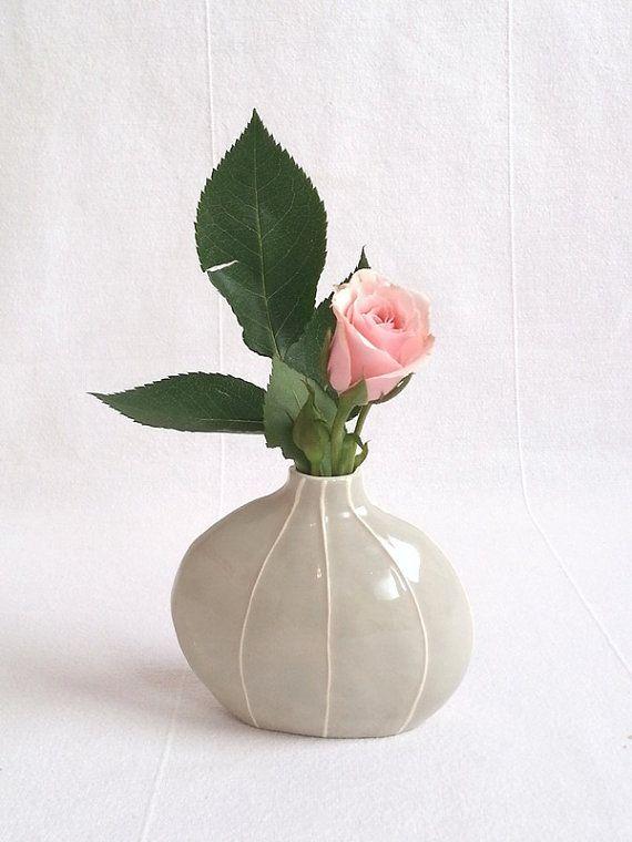 round organic form Scandinavian style. Bud vase from Kri Kri Studio Red Modern home decor