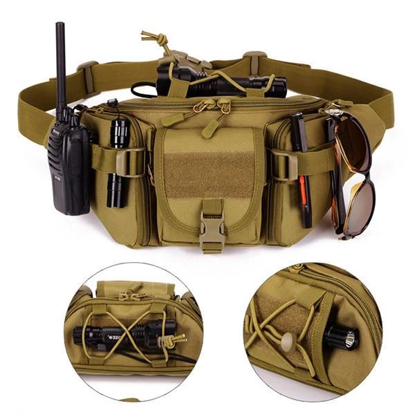 Hot Utility Tactical Waist Pack Pouch Military Camping Hiking Outdoor Belt Bags