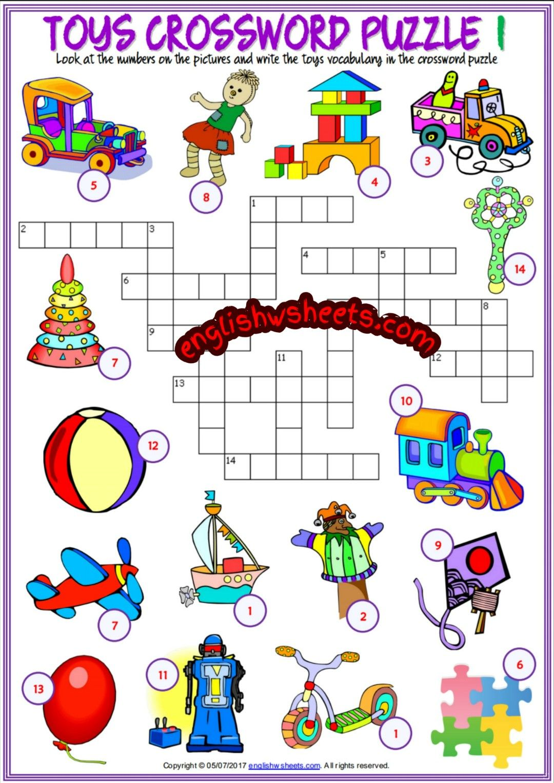 Toys Esl Printable Vocabulary Worksheets