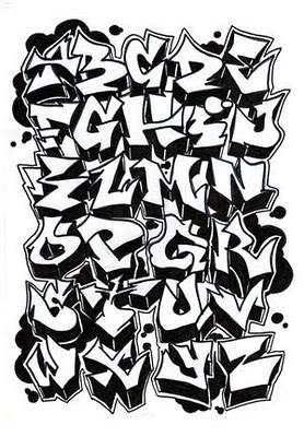 Graffiti Alphabet Letter A Z By Dadou Letters Pinterest
