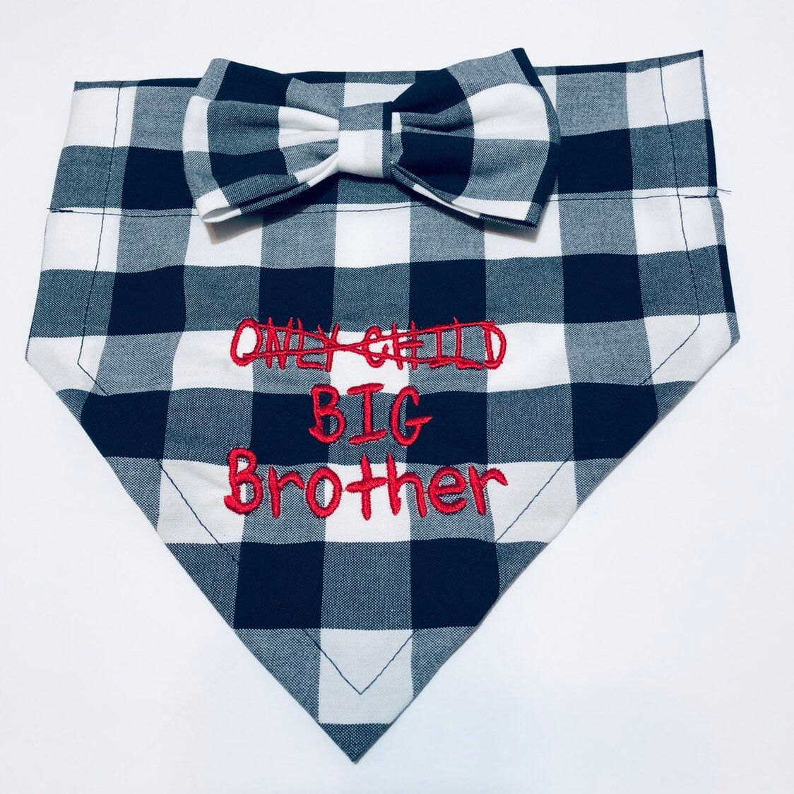big brother dog bandana  only child  baby announcement