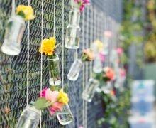 Nice Idea For An Ugly Chain Link Fence Venue Decor Ideas Diy