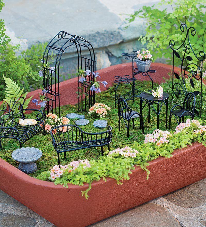 Fairy Garden A Park For Fairies Gnomes Fairy Garden Furniture Miniature Garden Fairy Garden