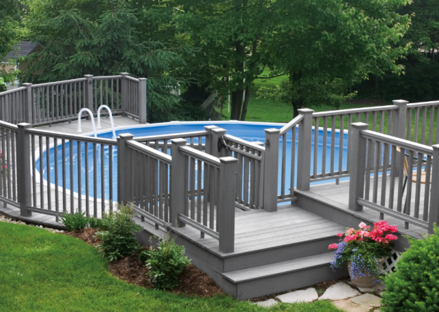 above ground pool deck plans - Above Ground Composite Pool Deck