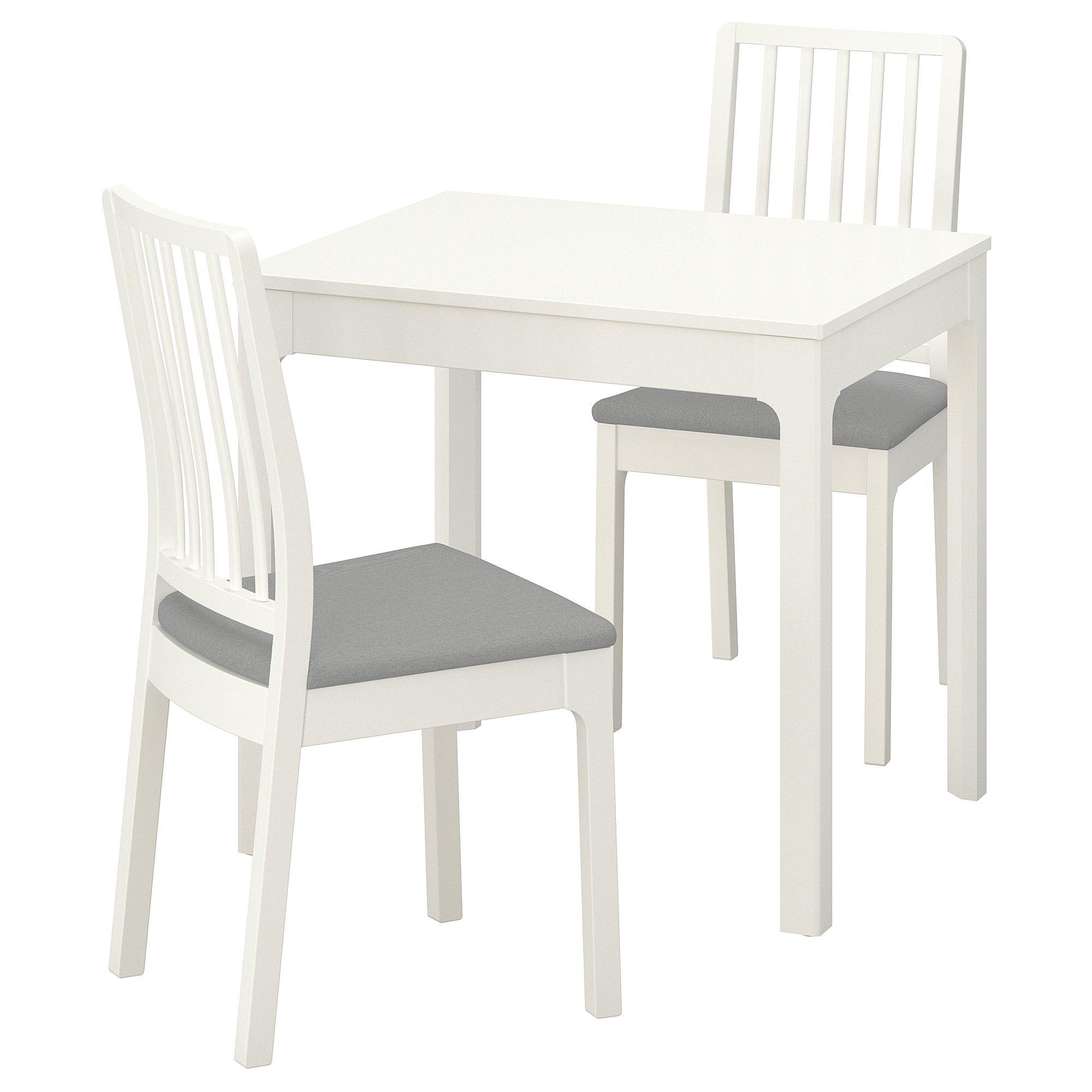 Ekedalen Ekedalen Table And 2 Chairs White Orrsta Light Gray