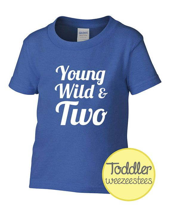 2 Year Old Birthday Shirt Young Wild Two By WeeZeesTees