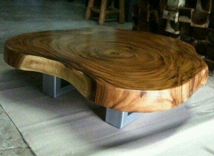 Acacia wood slab coffee live edge natural cutting SUAR COFFEE