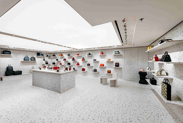 Valextra Boutique Hong Kong China Max Lamb Terrazzo