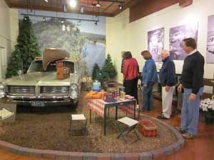 The camping display at the Pontiac-Oakland Automobile Museum.