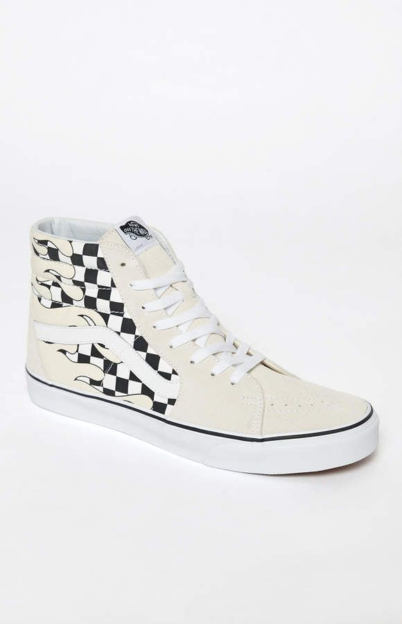 21a810af709 Vans Checker Flame Sk8-Hi Shoes