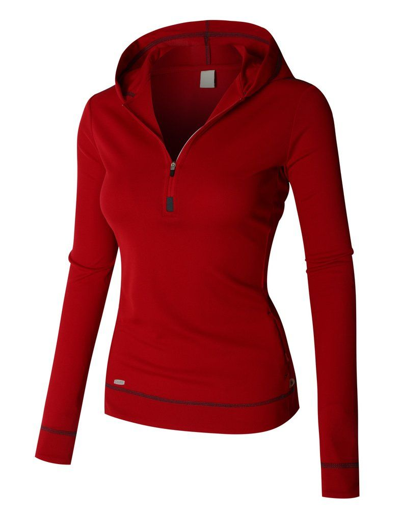 e39c7aba3 LE3NO PREMIUM Womens Lightweight Long Sleeve Active Sports Jacket Top with  Hoodie