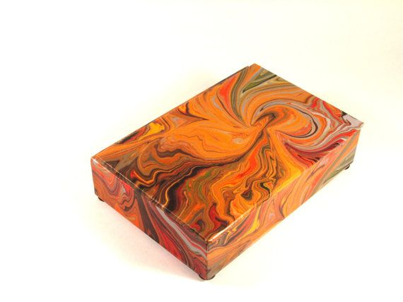 Paper Decorative Boxes Enchanting Decorative Box In Unusual Marbled Paper For Display Or Storage Of 2018