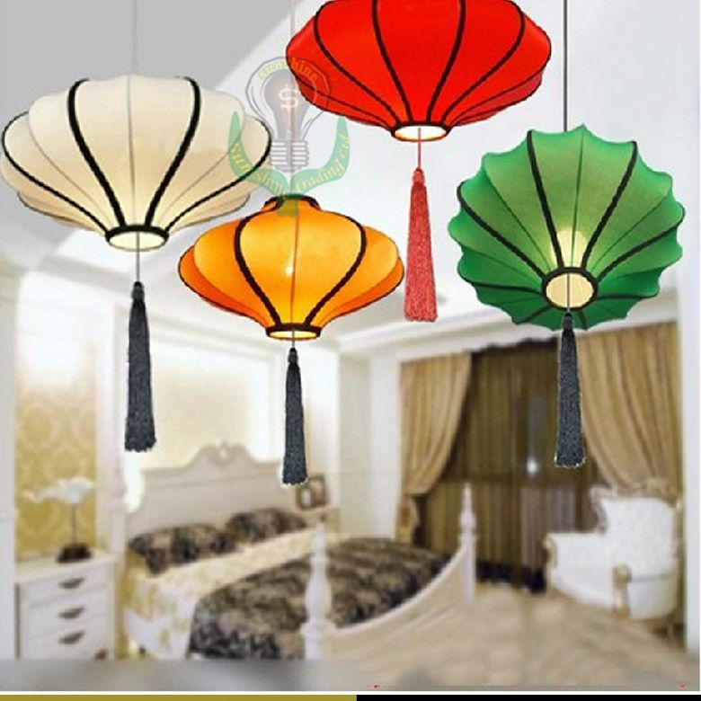 Whole Muticolor Chinese Style Fabrics Pendant Lamps Hot Traditional Handicraft Lantern Cloth Pandant Light Customizable In Lights From