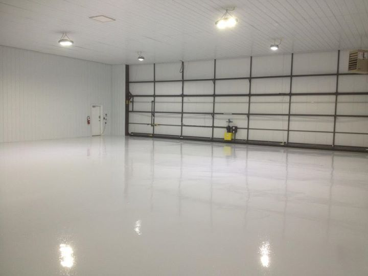 White Epoxy Garage Floor Coating