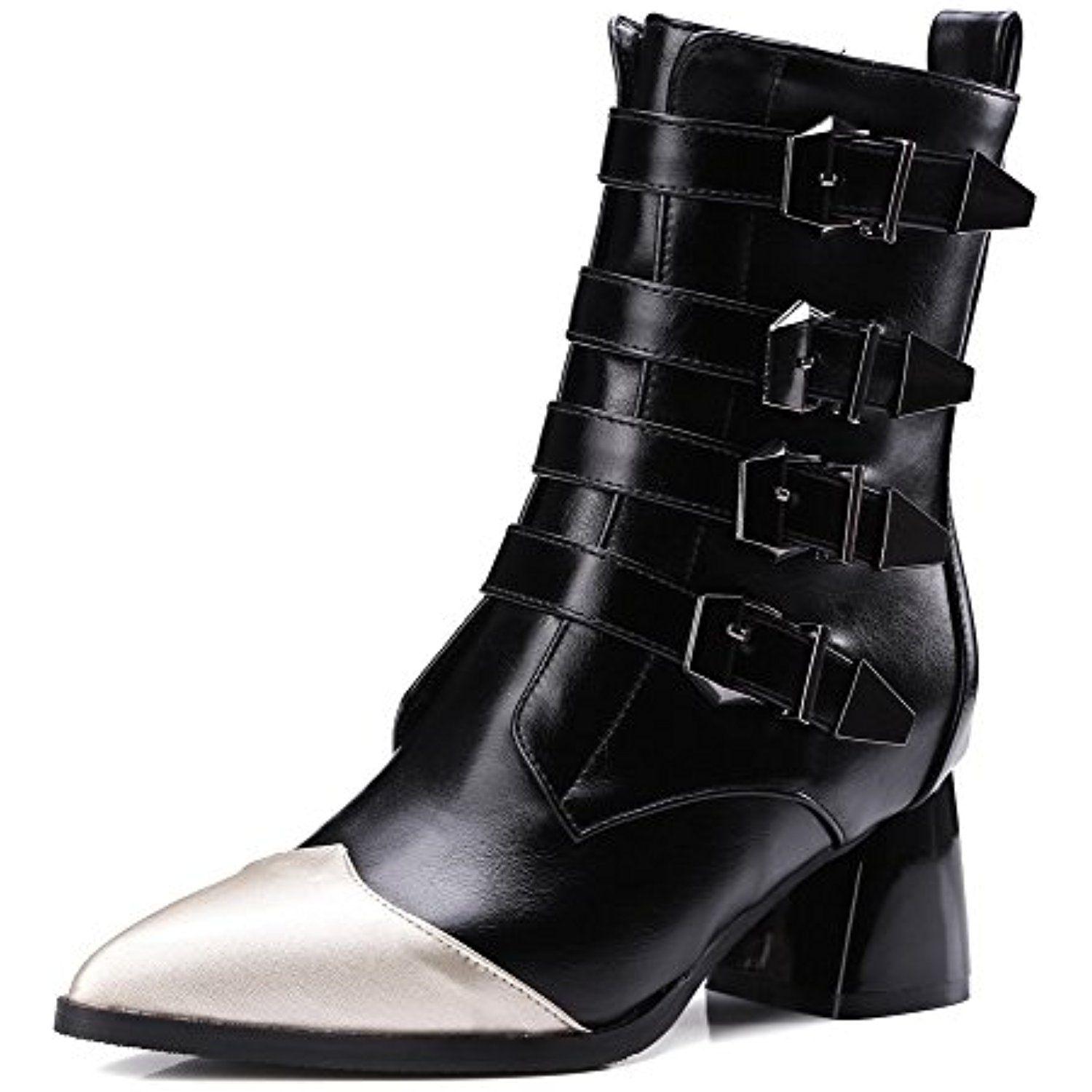 Women's Soft Material Zipper Closed Pointed Toe High-Heels Low-Top Boots