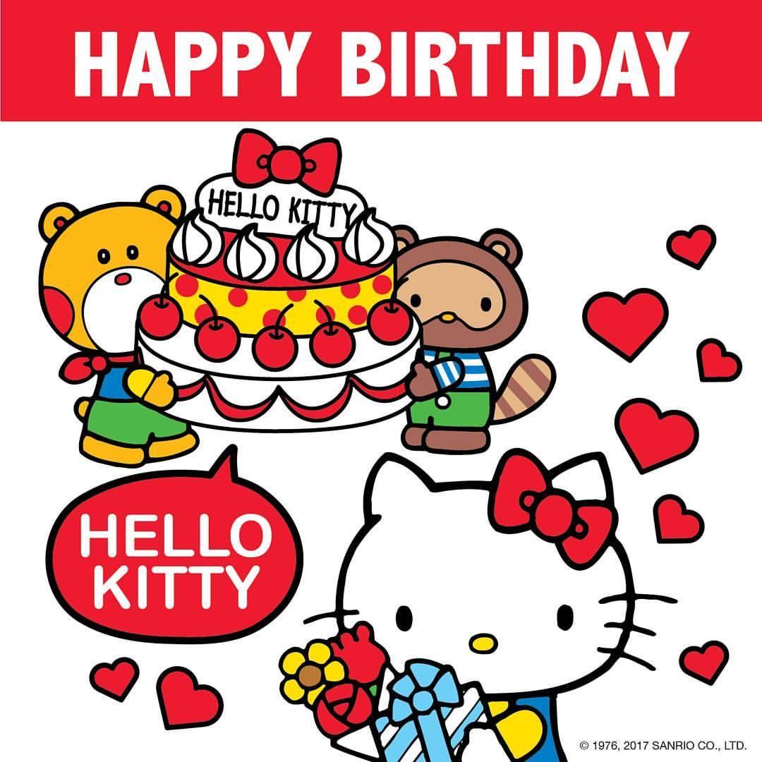 Today Is Hello Kittys Birthday Say Happybirthday Hellokitty