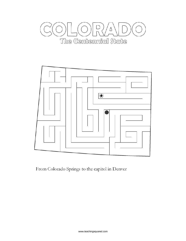 Fun Colorado Maze Game Top Worksheets