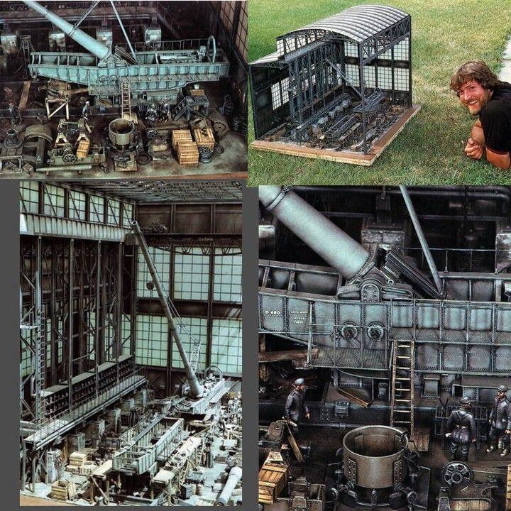 """The Paris Gun"" Part 1  By: Lewis Pruneau  From: Modelismo BCN  #miniatura #miniatura #paris #gun #dio #diorama #dioramas #hobby #fábrica #factory #usinadoskits #udk #plastimodelismo #instahobby #modelismo #plastickit #art #miniart #miniarte"