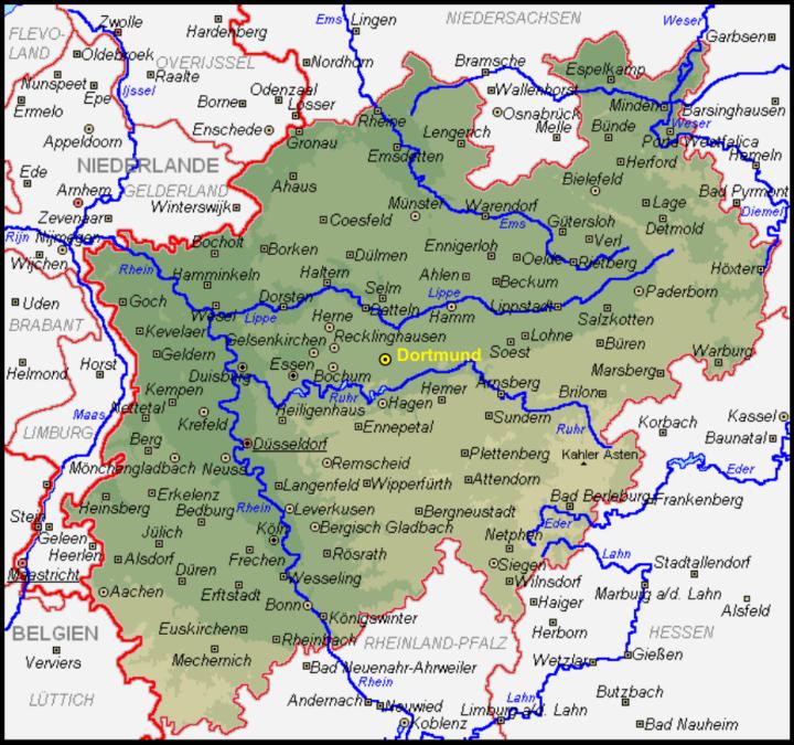 map of nordrhein westfalen germany - Google Search