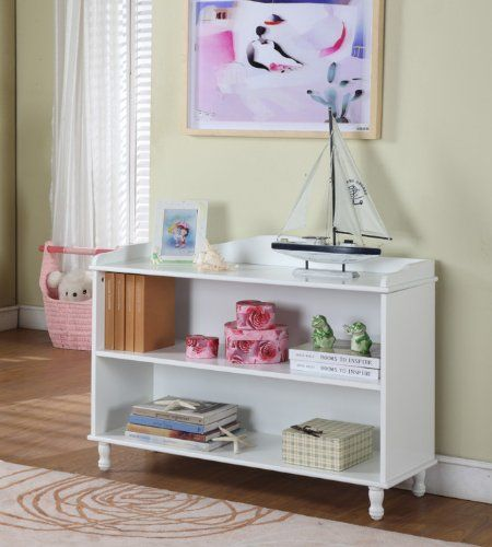 King's Brand R1015 Wood 2-Tier Bookcase