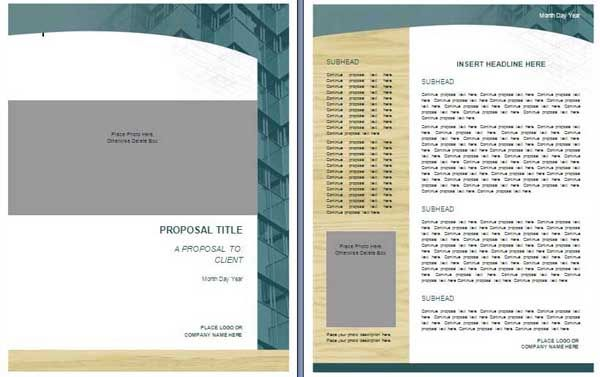 Bid Proposal Template The Template Can Guide One In The
