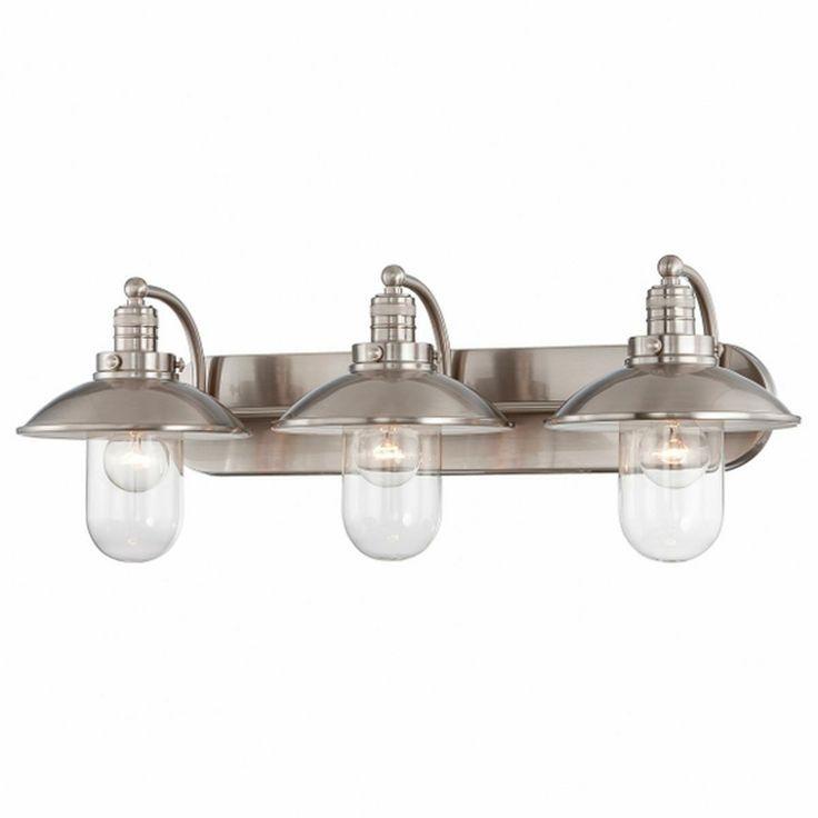 Schooner 3-Light Bath Light. Nautical or industrial look. Love it ...
