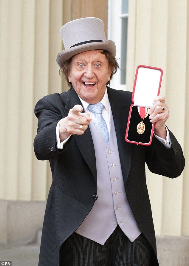 "'What a beautiful day for sticking a cucumber through someone's letterbox and shouting, ""Help, help, the Martians have landed!"" ' Tattyfilarious RIP Sir Ken Dodd Sir Ken Dodd joked that he felt as jittery as a thoroughbred before a race as he arrived to be made a knight"
