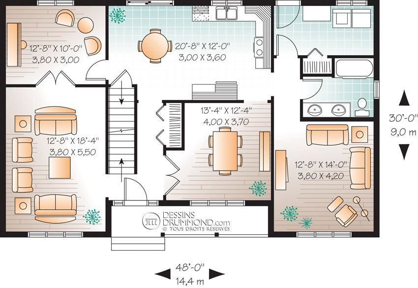 Champêtre W3706 Maison Laprise - Maisons pré-usinées plans