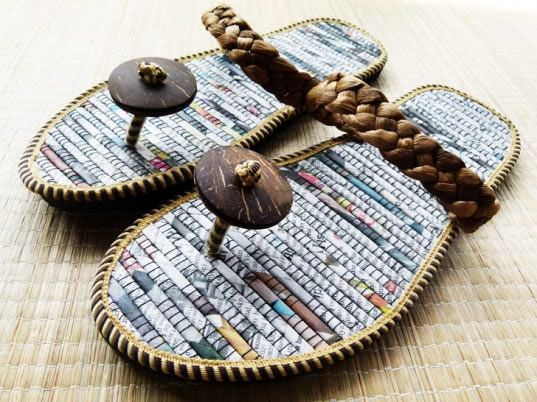 Sandals Made From Recycled Material Recycle Newspaper Stylish