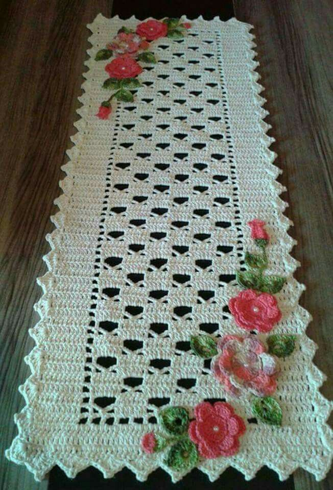 Pin by selenit on conjunto para cocina pinterest crochet crochet table runner crochet tablecloth crochet doilies crochet curtains crochet yarn filet crochet crocheted bags crochet flowers crochet ccuart Choice Image