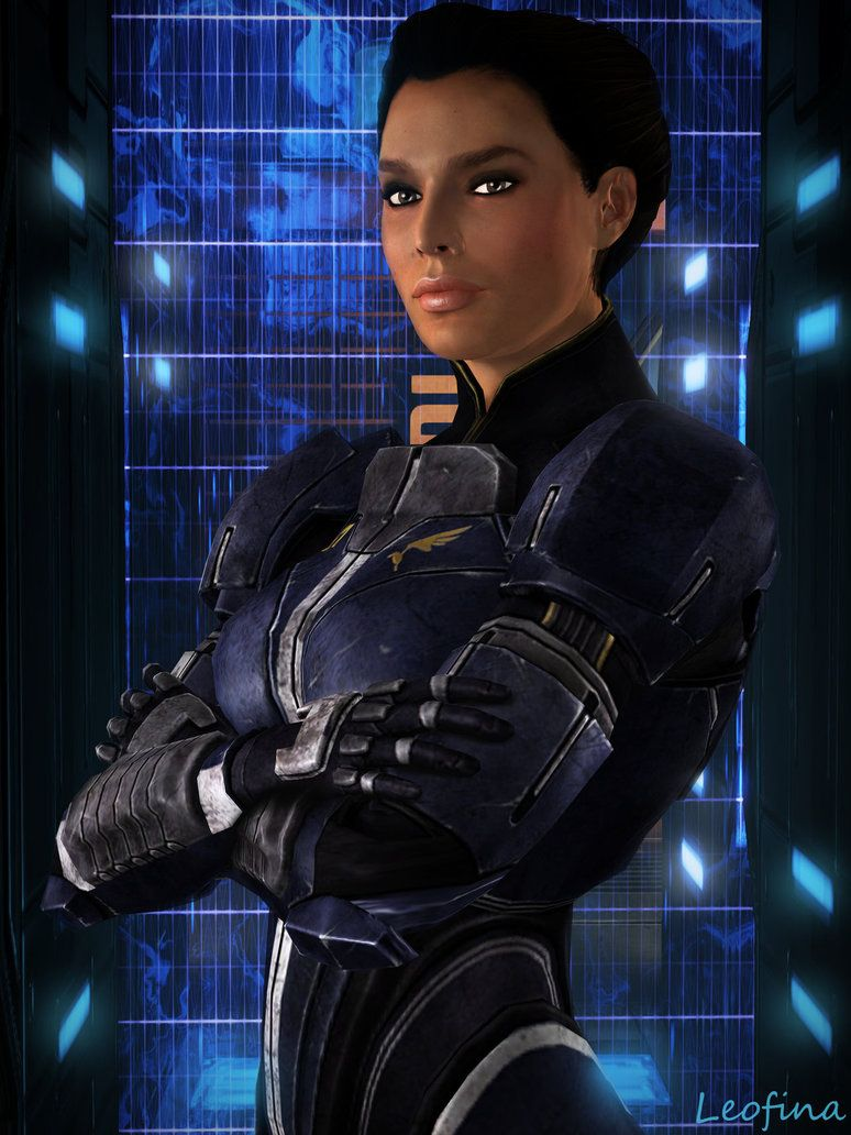 Ashley Williams By Leo Fina Mass Effect Characters Mass Effect