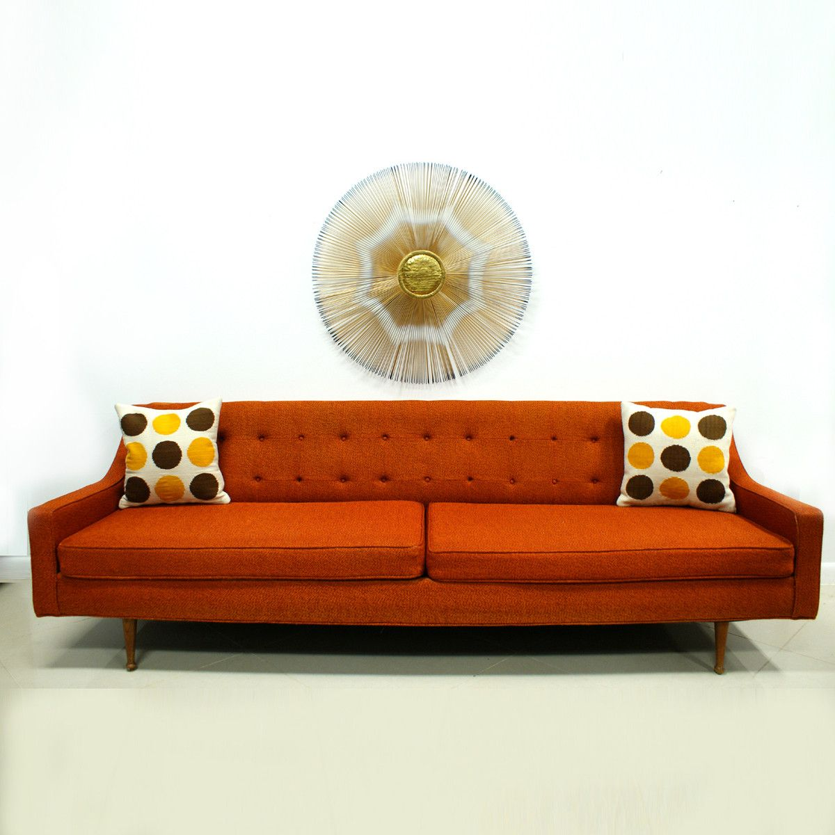 Sofa 60s 60s Orange Sofa Can T Afford An Actual Vintage Piece But I