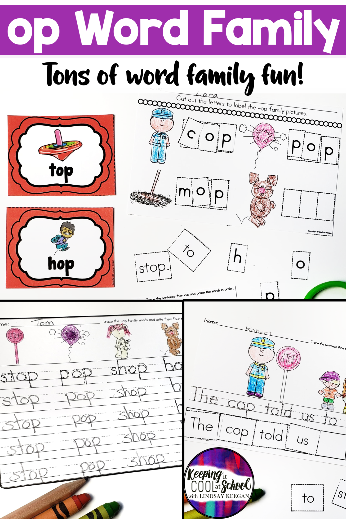Op Word Family Worksheets With Images