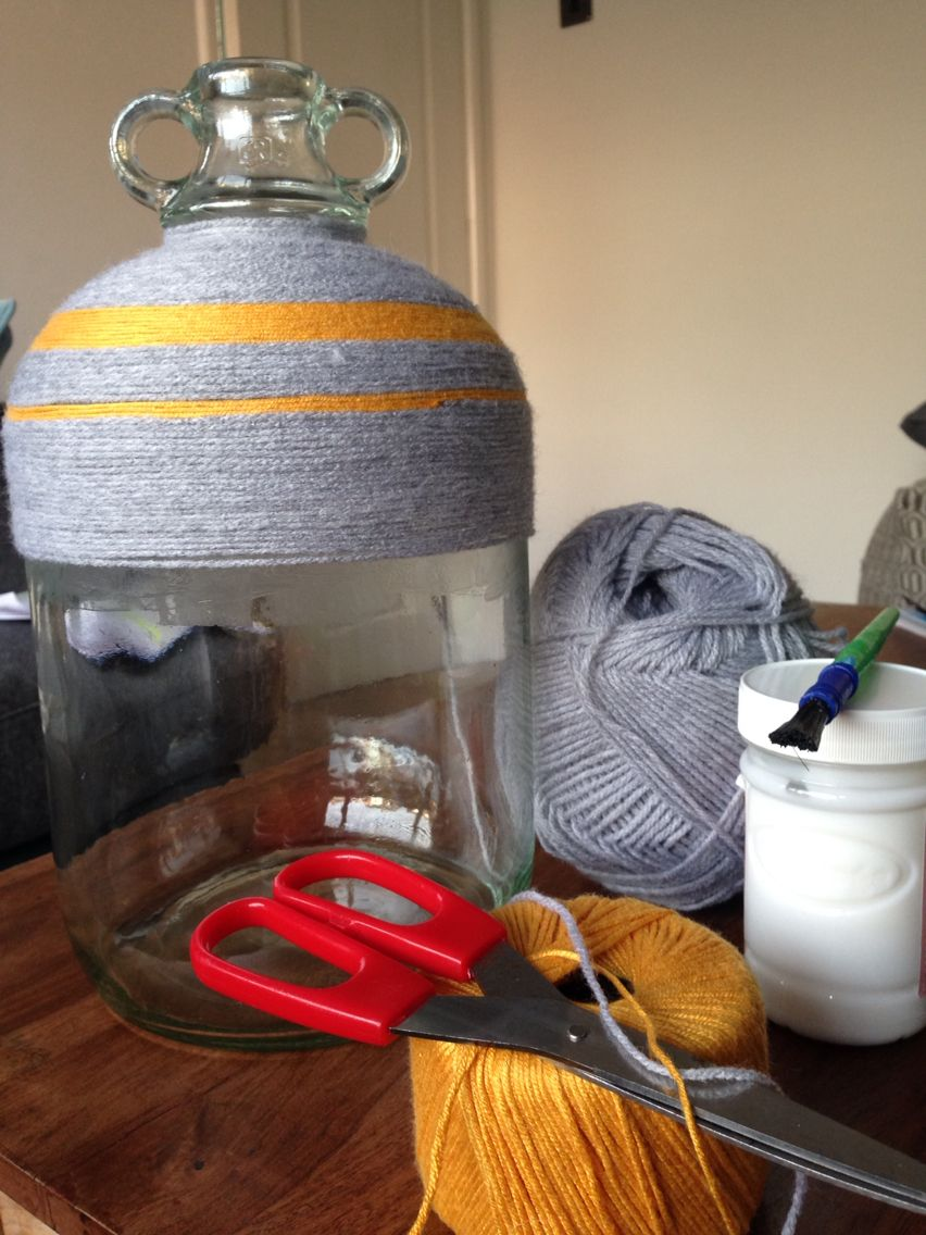 Up-Cycled Wool-wrapped Vase