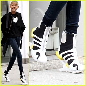 Willow Smith in $690 Y3 Sneakers by