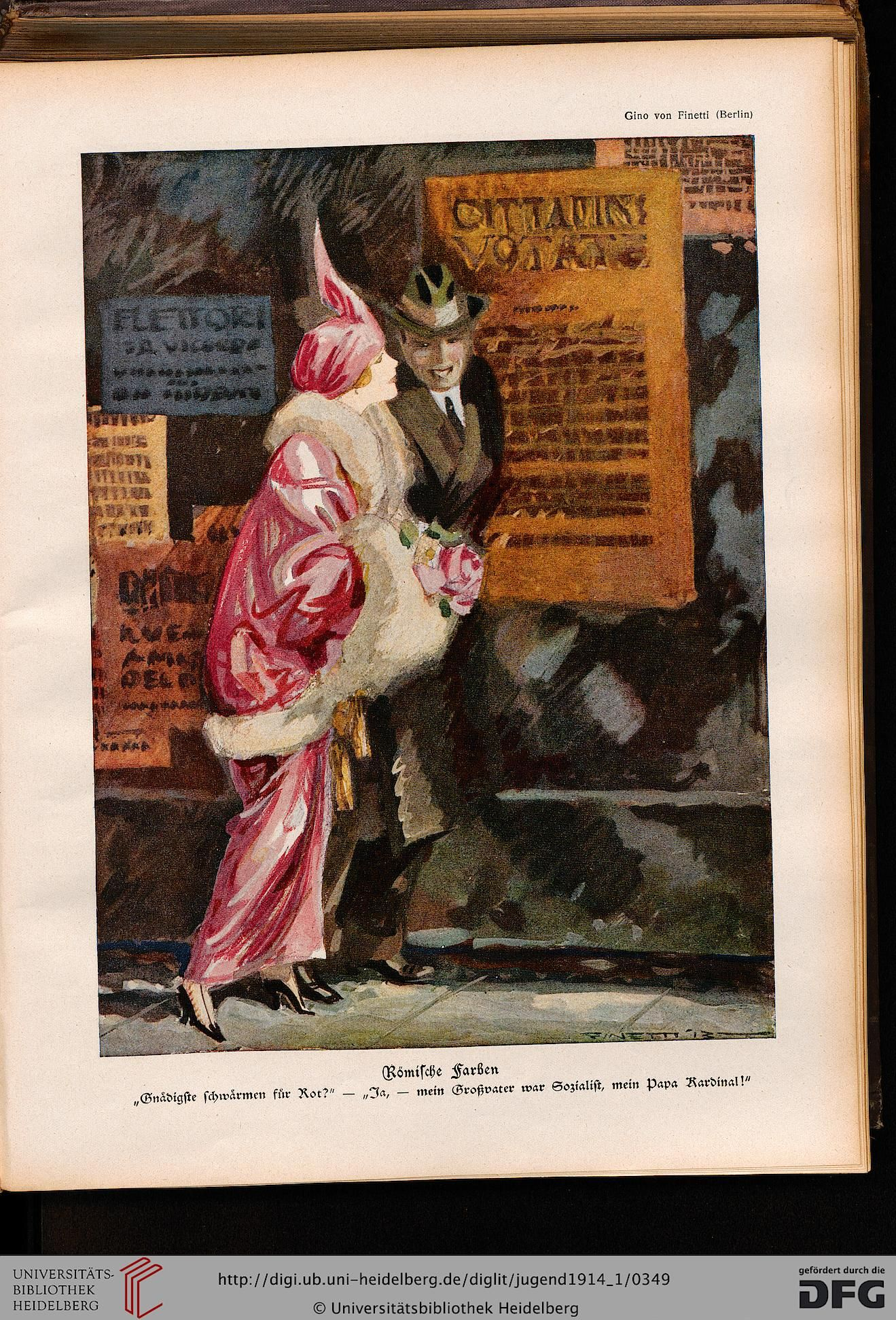 Jugend, German illustrated weekly magazine for art and life, Volume 19.1, 1914.