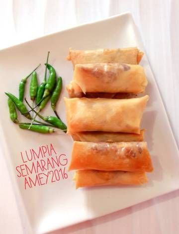 Resep Lumpia Semarang Enakkk Oleh Amei Resep Makanan Makanan Dan Minuman Resep