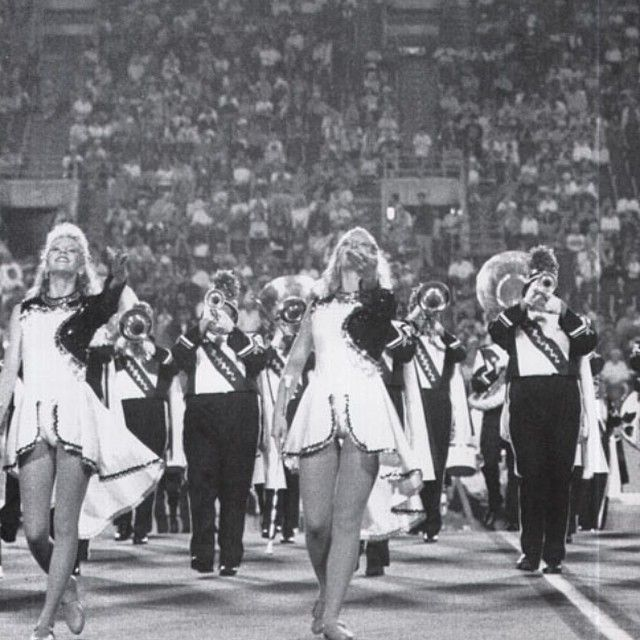 #MarshallUtbt: Members of the Marching Thunder play during halftime of a football game in 1994! The Marching Thunder needs your help to purchase new uniforms: http://buzz.mw/bq0zn_l