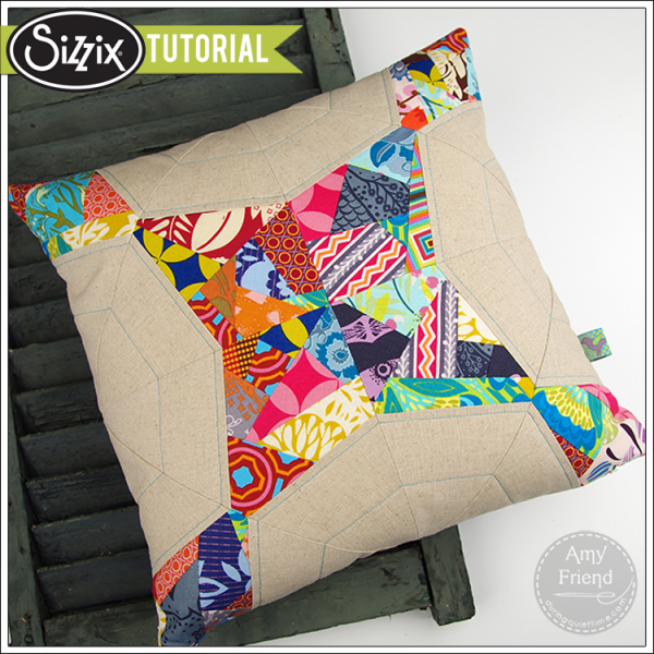 Sizzix Quilting Die Cutting Tutorial Wacky Web Improv Pillow By