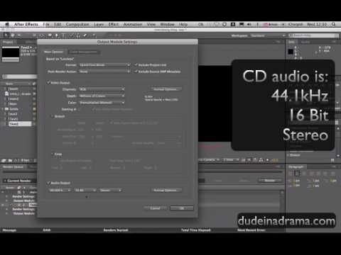 How To Export Video In After Effects Adobe After Effects Tutorial Cs3 Cs4 Adobe After Effects Tutorials After Effect Tutorial Adobe Design